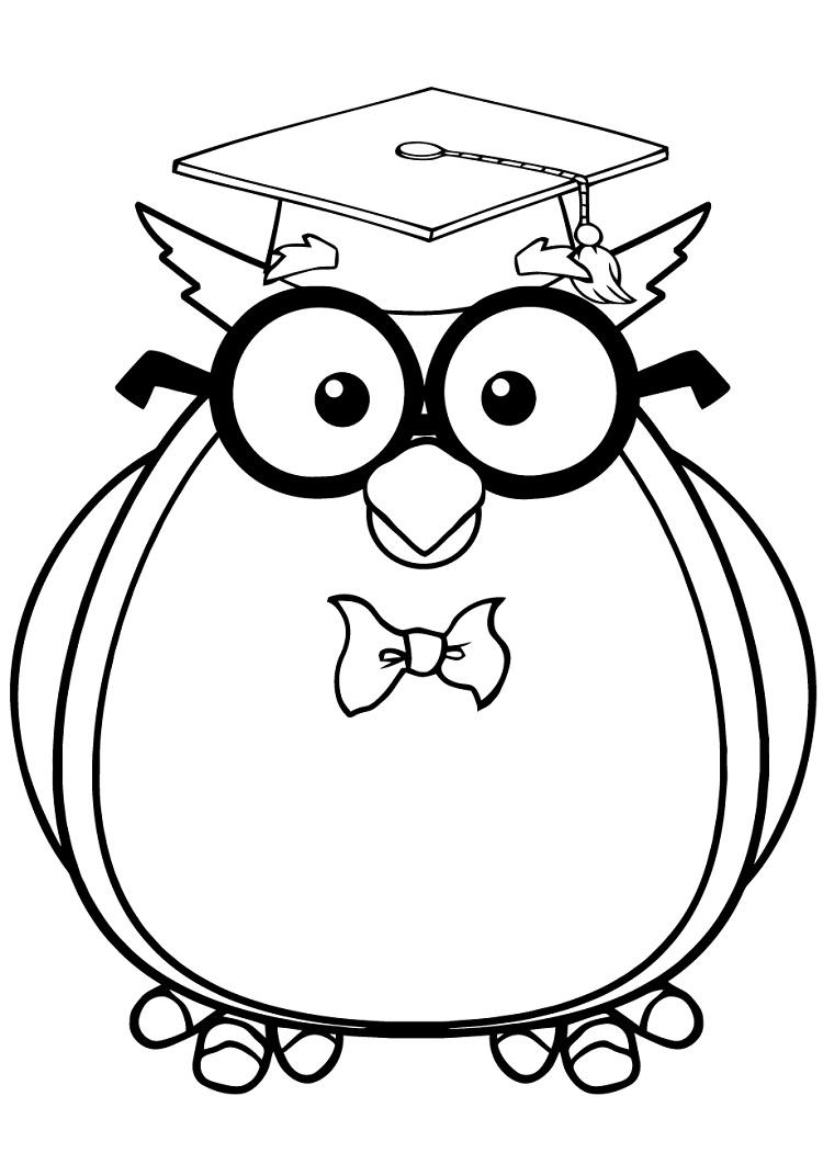 Wise Owl Coloring Pages