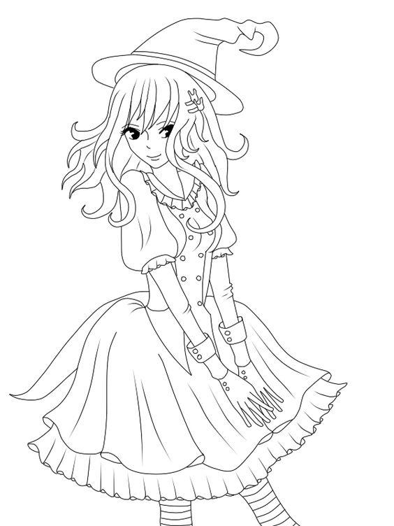 Witch Coloring Pages Anime