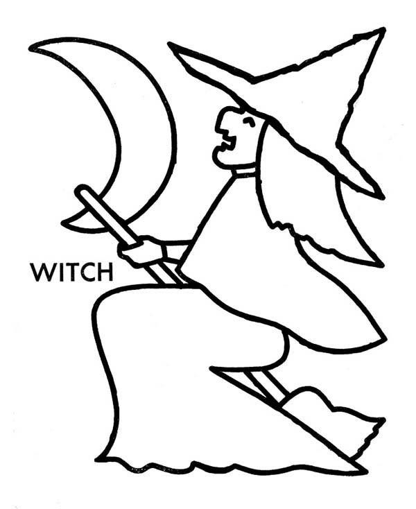 Witch coloring pages for toddler