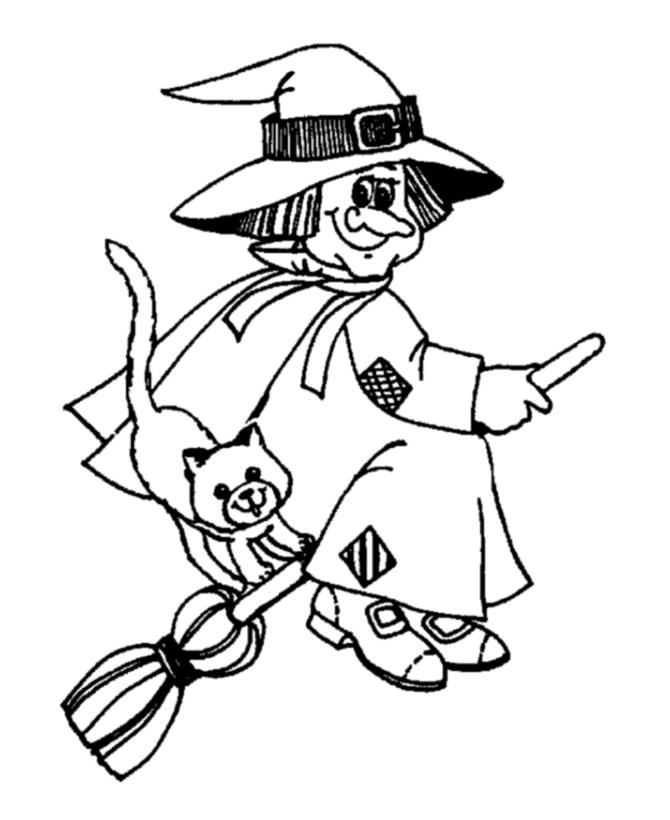 Witch Coloring Pages Printable Free
