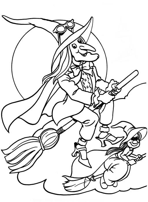 Witch Coloring Pages To Print