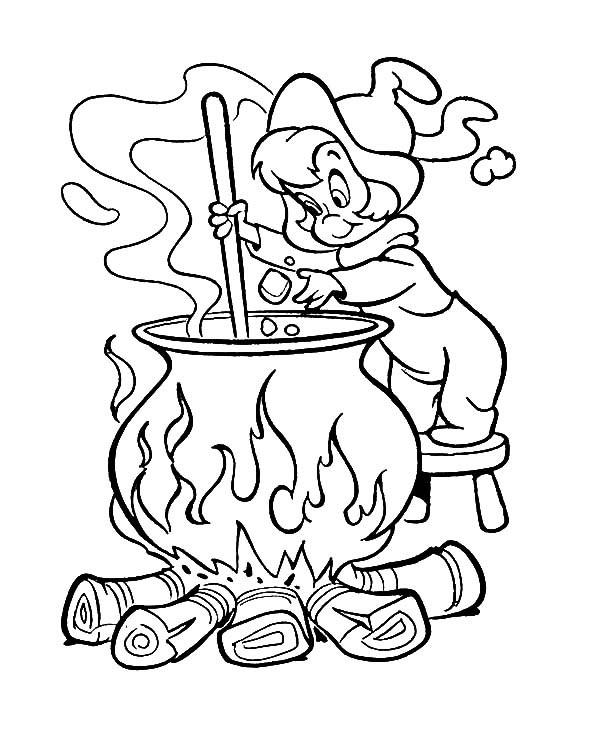Witch Coloring Pages Wendy