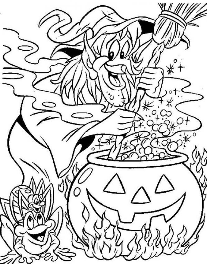Witch Coloring Pages Witchs Brew