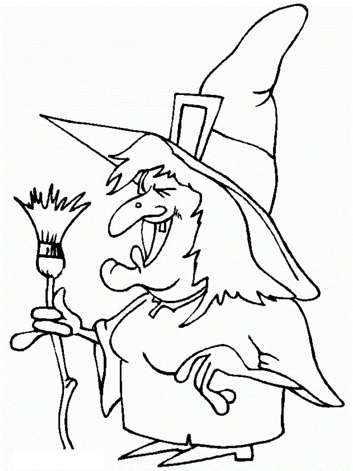 Witch Printable Halloween Coloring Pages