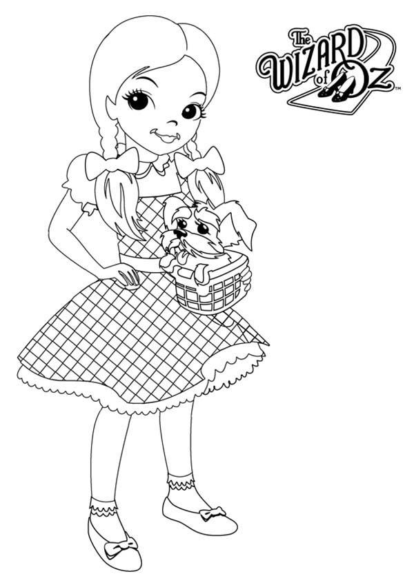 Wizard Of Oz Coloring Pages Dorothy Gale