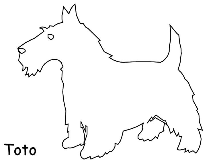 Wizard Of Oz Coloring Pages Toto