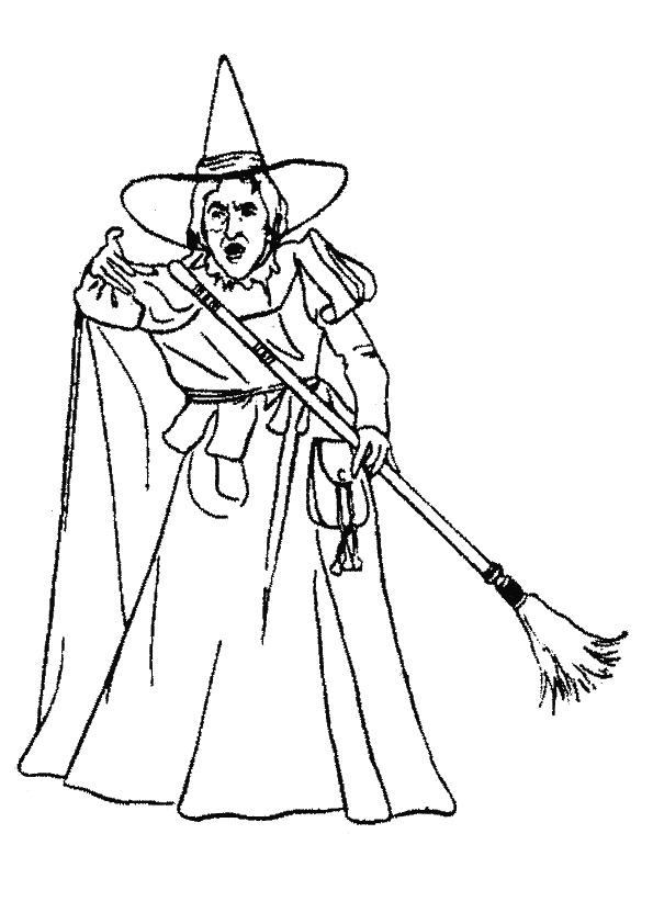 Wizard Of Oz Coloring Pages Wicked Witch Of The West