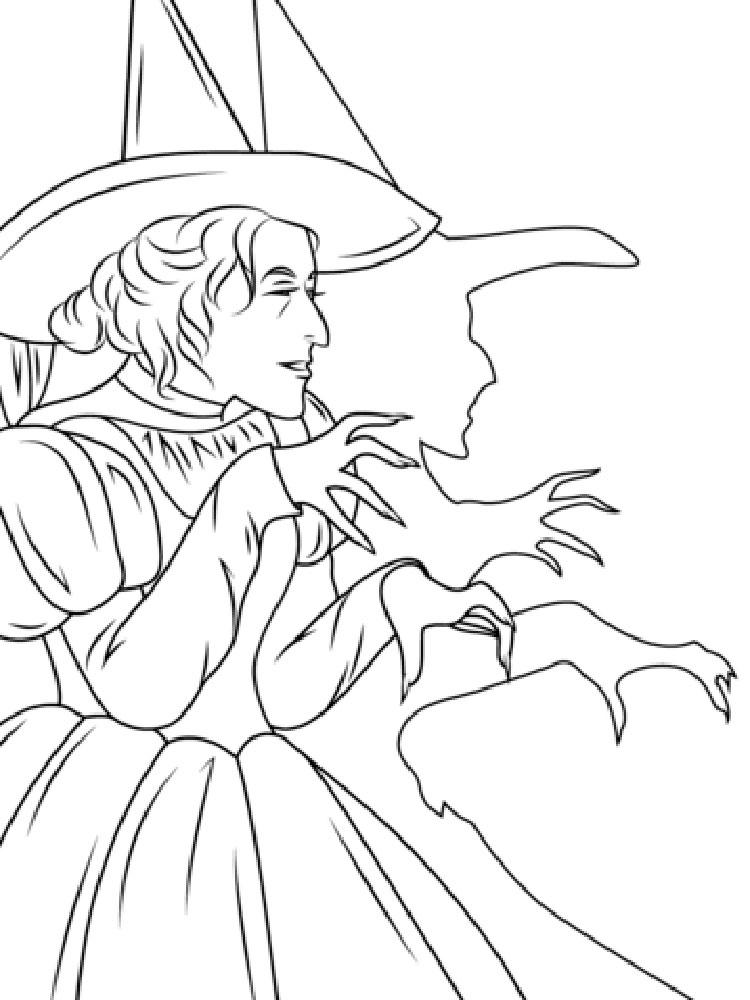 Wizard Of Oz Coloring Pages Wicked Witch