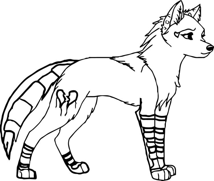 Wolf Coloring Pages Female