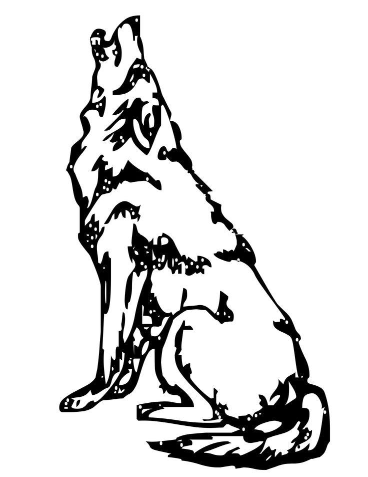 Wolf Coloring Pages Howling