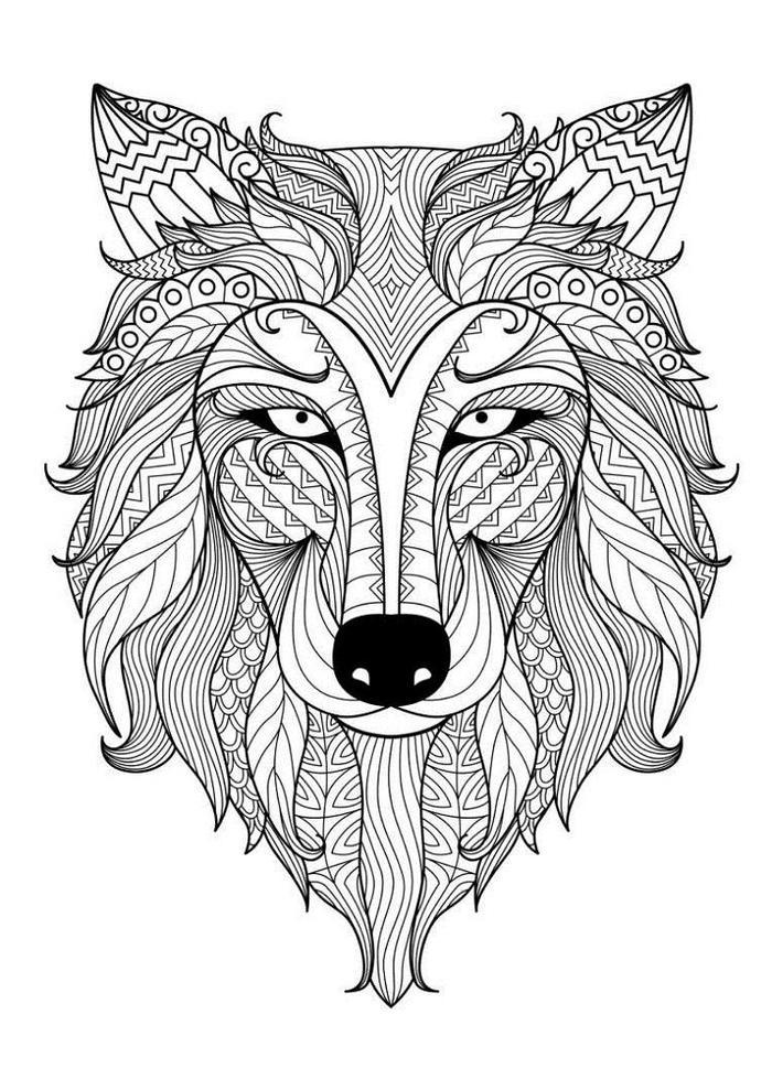 Wolf Mandala Coloring Pages