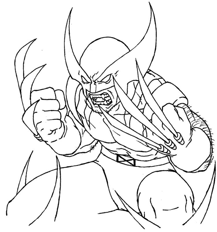 Wolverine Coloring Pages Free To Print