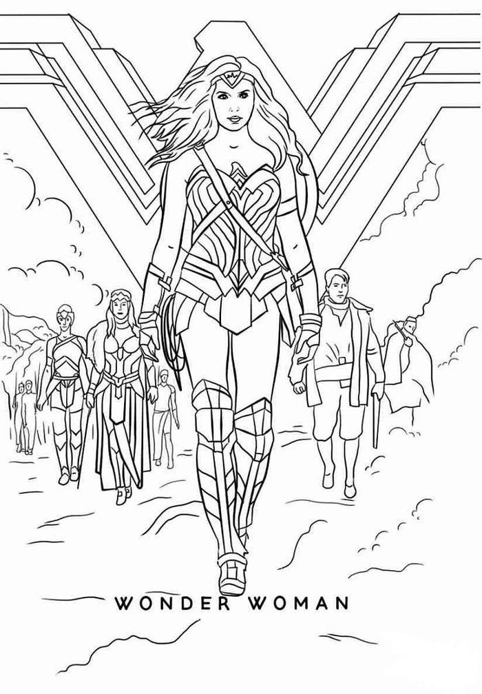 Wonder Woman Coloring Pages 2017