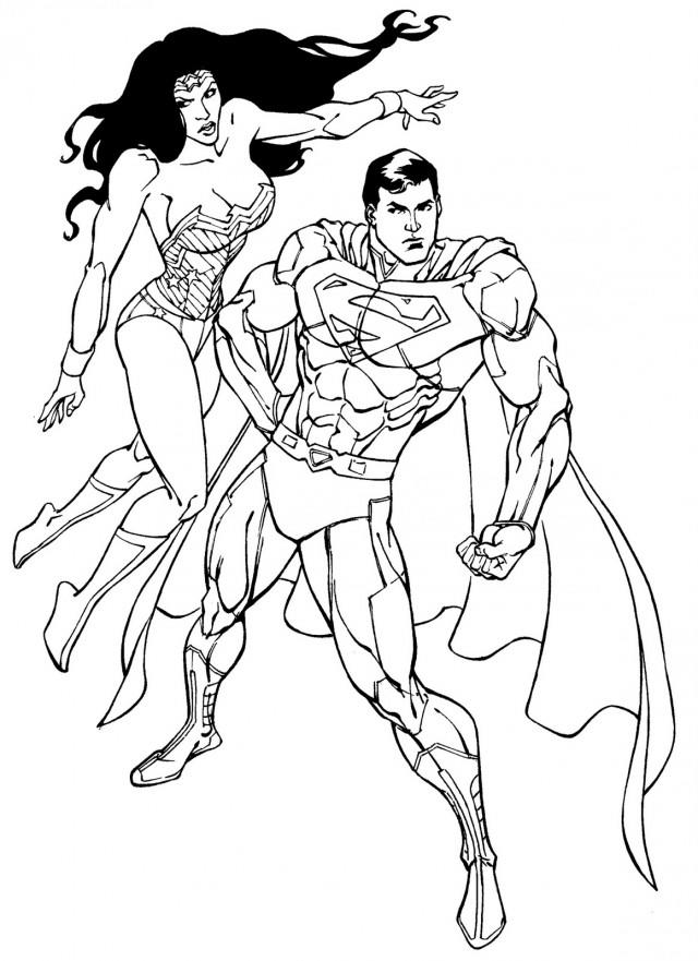 Wonder Woman Coloring Pages And Superman