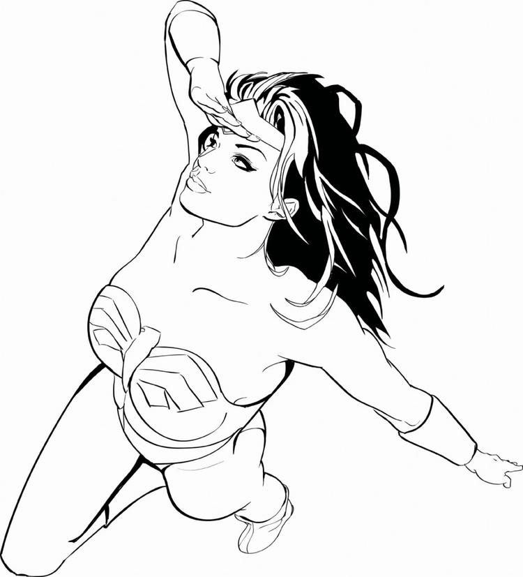 Wonder Woman Coloring Pages For Girls Printable