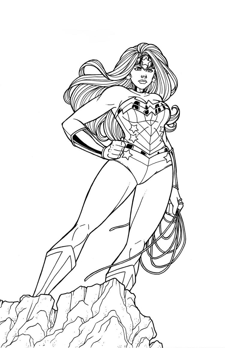 Wonder Woman Coloring Pages For Kids