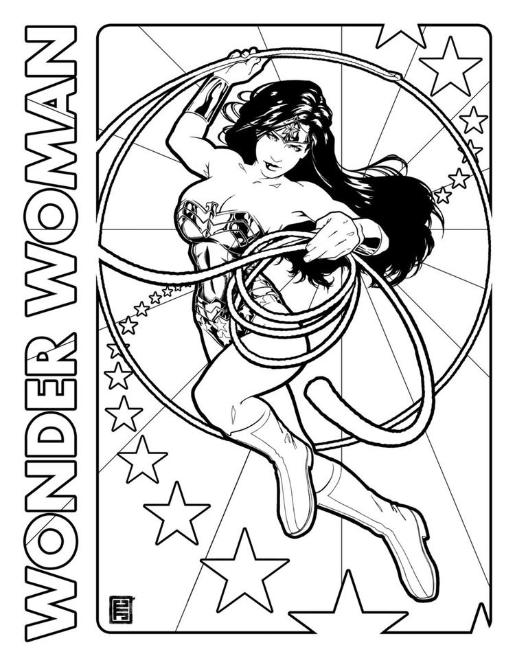 Wonder Woman Coloring Pages Superhero