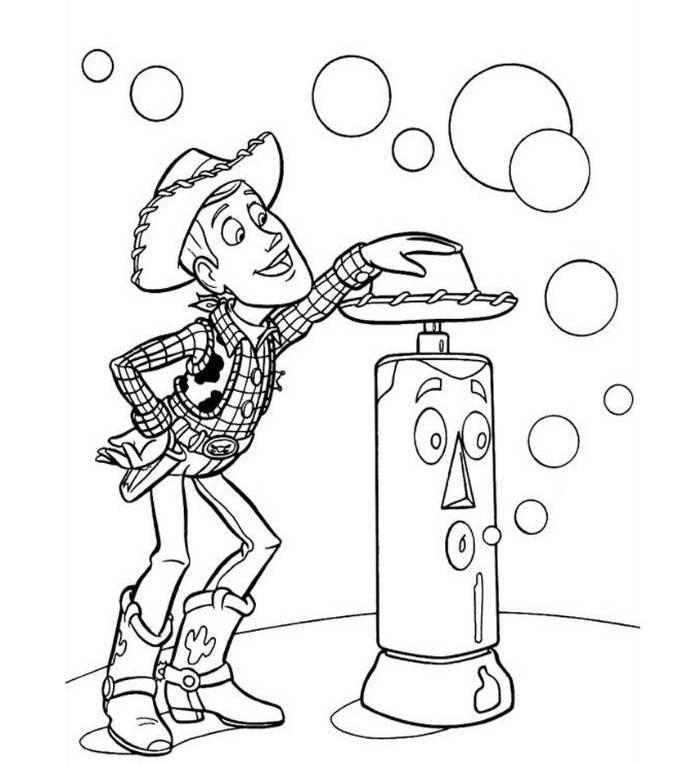 Woody Toy Story 3 Coloring Page