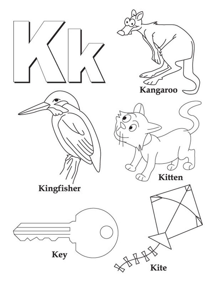 Words Alphabet Coloring Pages Free
