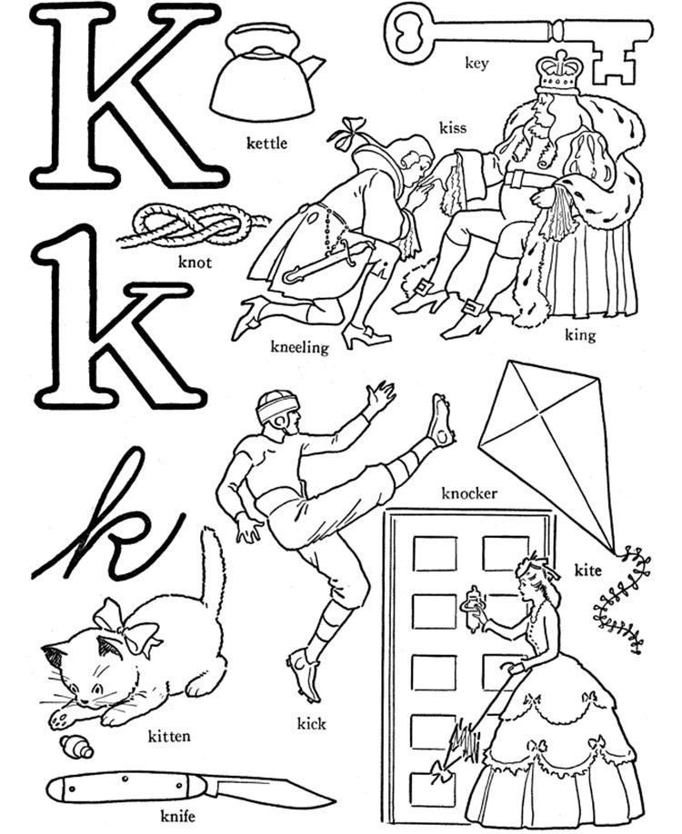 Words Of L Alphabet Coloring Pages Free