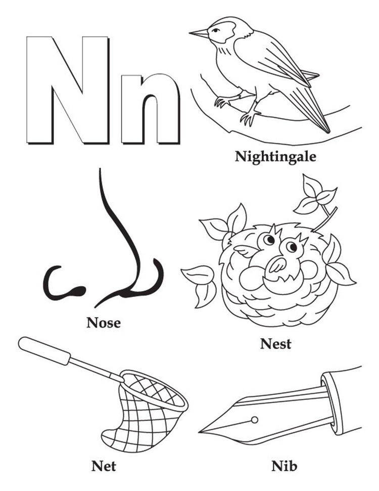 Words Of N Free Alphabet Coloring Pages