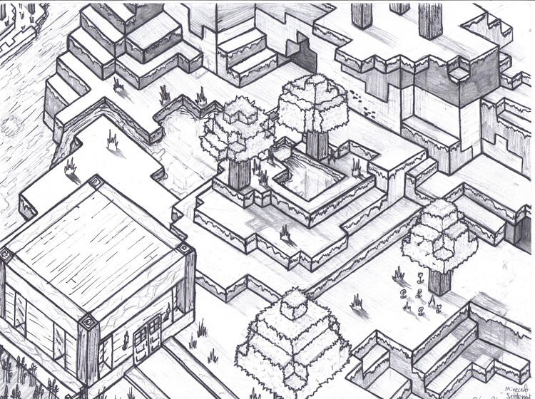 World Of Minecraft Coloring Pages