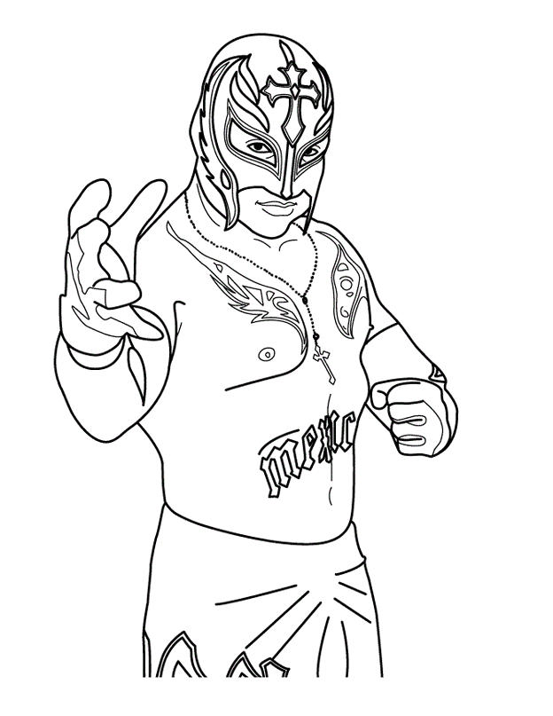 World Wrestling Entertainment Wwe Rey Mysterio Coloring Page Smackdown