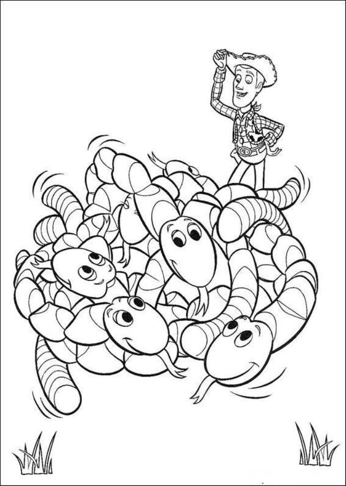 Worms Toy Story 3 Coloring Pages