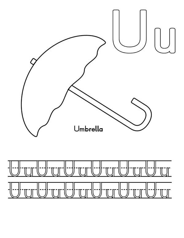 Write Letter U Coloring Page