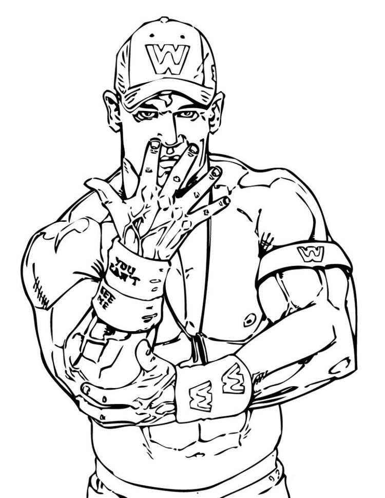 Wwe Coloring Pages John Cena Style