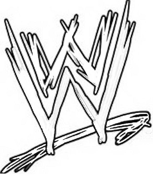 Wwe Coloring Pages Logo