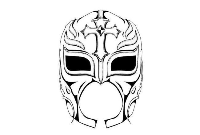 Wwe Coloring Pages Rey Mysterio Mask