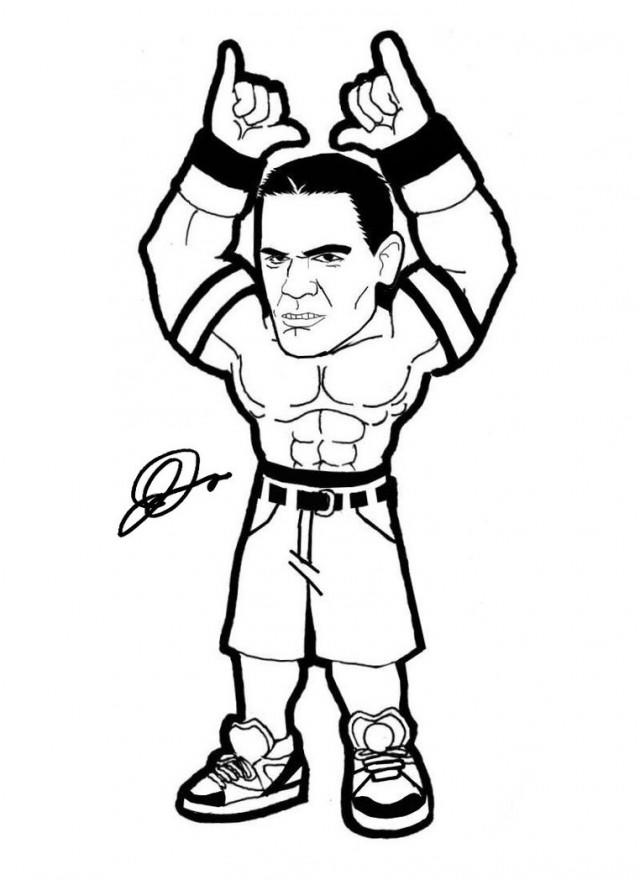 Wwe John Cena Coloring Pages For Kids