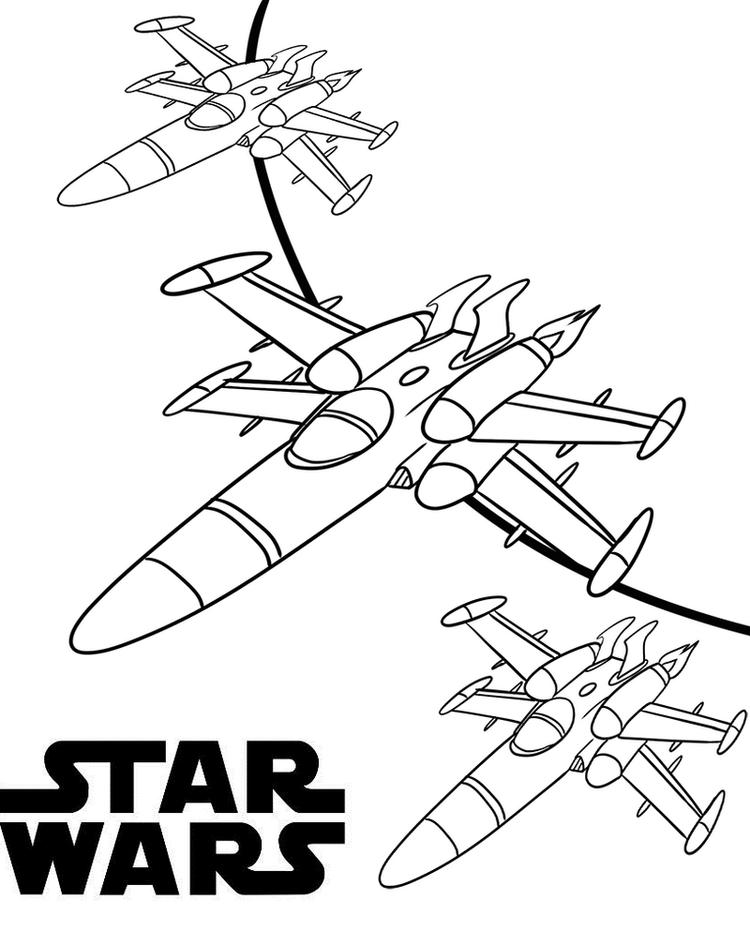 X Wing Fighter Star Wars Coloring Page For Boys