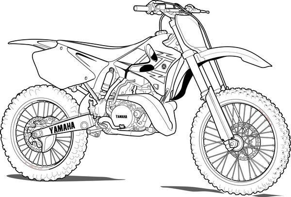 Yamaha Dirt Bike Coloring Pages