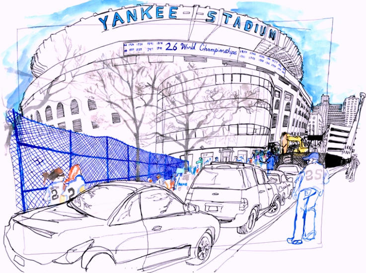 Yankee Stadium Landmarks Coloring Pages