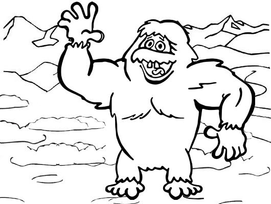 Yeti Disney Coloring Page For Kids