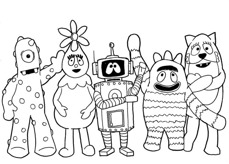 Yo Gabba Gabba Coloring Pages All Characters - Coloring Ideas
