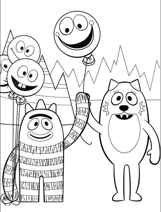 Yo Gabba Gabba Coloring Pages Brobee And Toodee