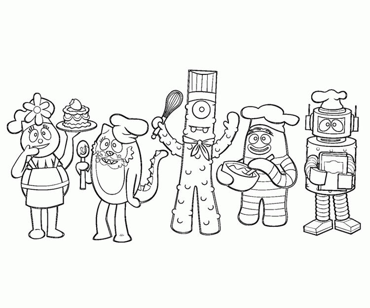 Yo Gabba Gabba Coloring Pages Chef - Coloring Ideas