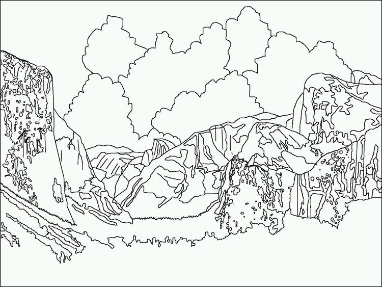 Yosemite Rocks Colouring Pages National Parks