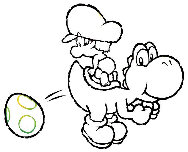 Yoshi Coloring Pages Free To Print