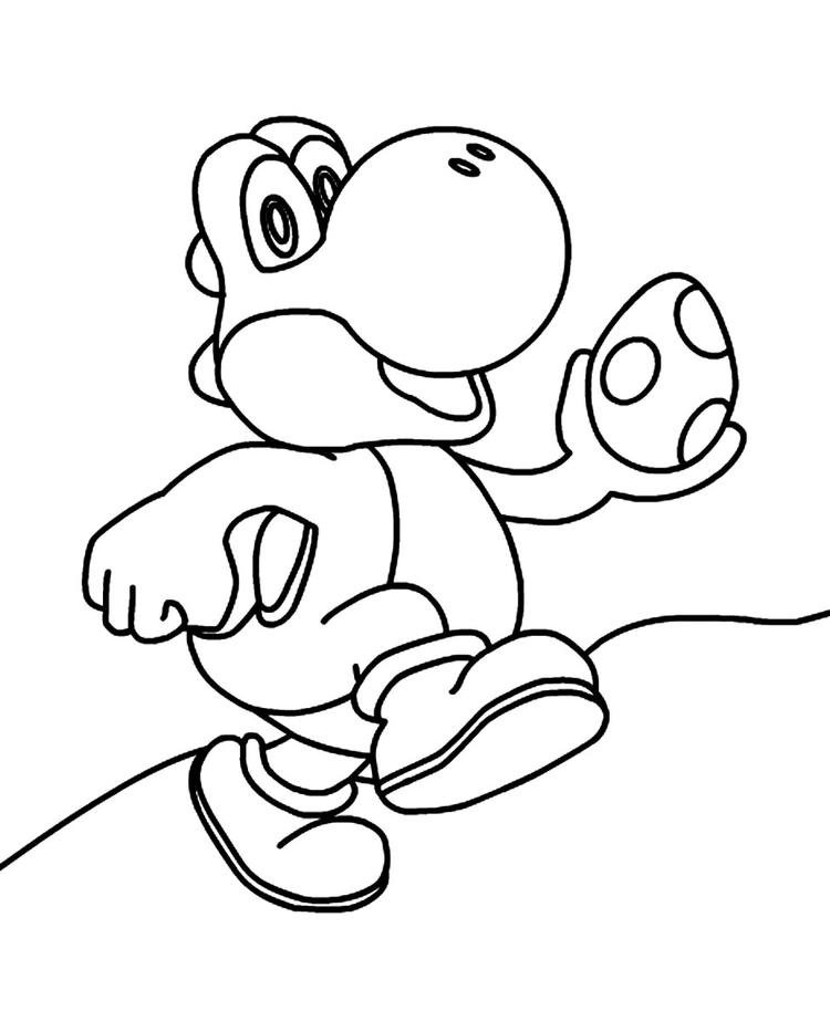 Yoshi Coloring Pages With Egg