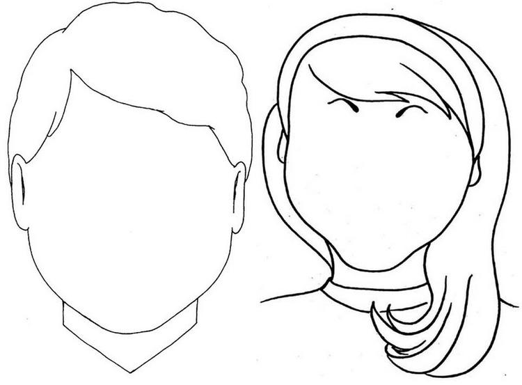 Young Boy And Girl Face Coloring Page