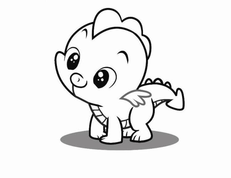 Young Spike The Dragon My Little Pony Coloring Pages