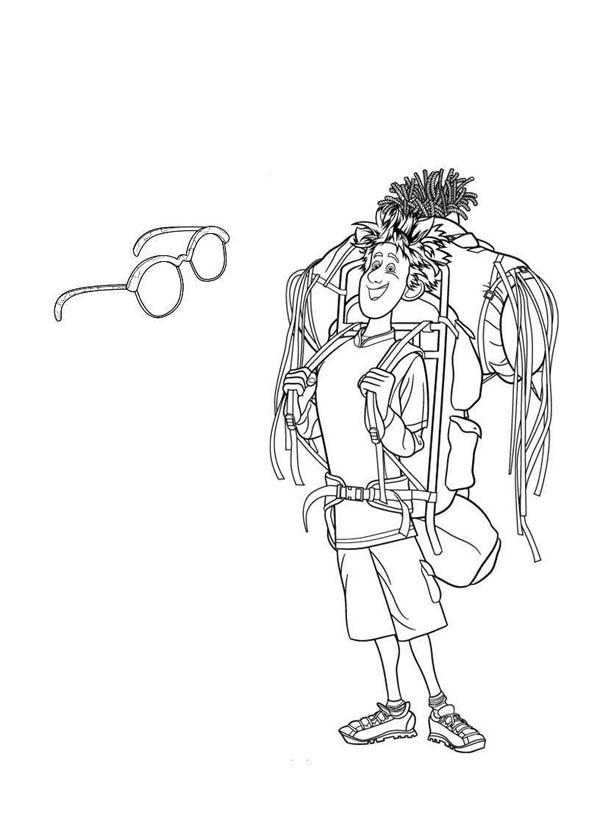 Young Traveler Jonathan From Hotel Transylvania Coloring Pages