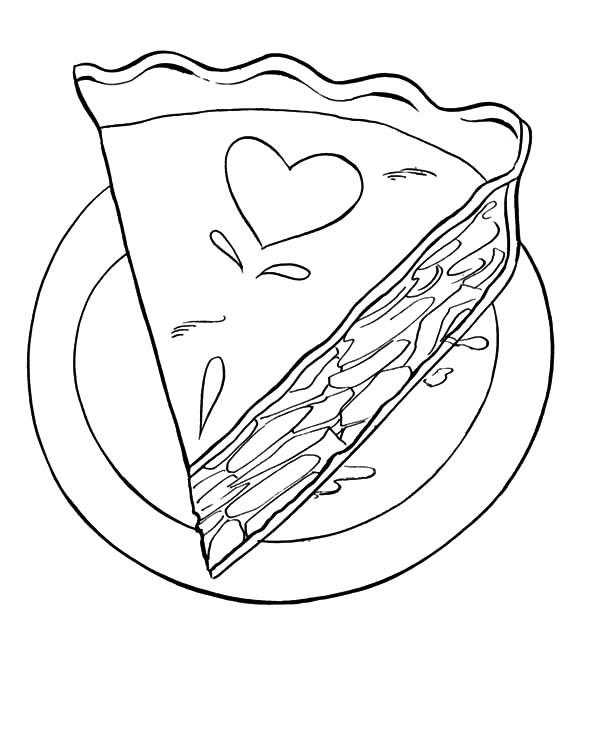 Yummy Apple Pie Coloring Pages