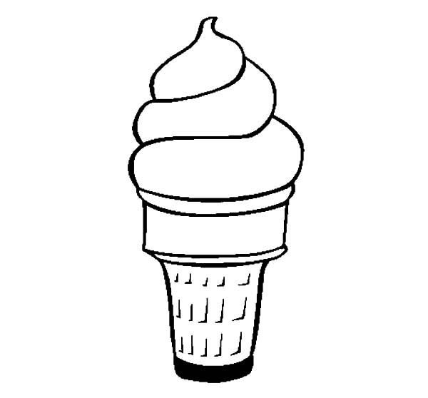 Yummy Ice Cream Cone Coloring Pages