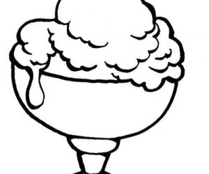 Yummy ice cream sundae coloring pages