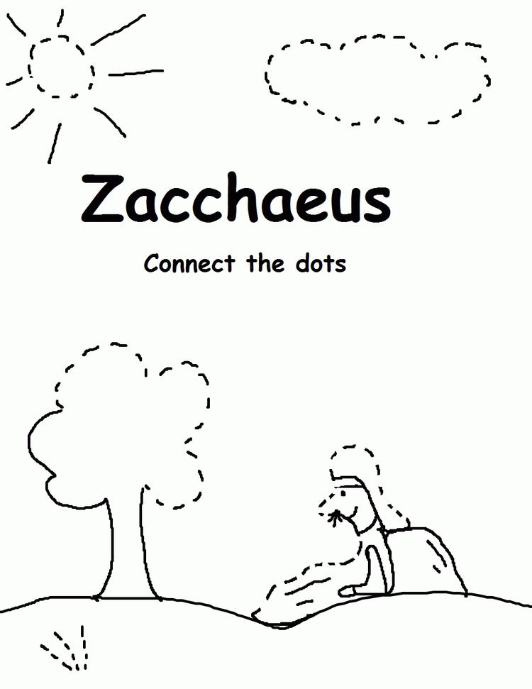 Zacchaeus Coloring Pages For Kids 2